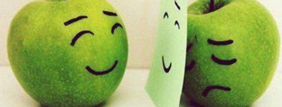 Sad: hiding behind smile