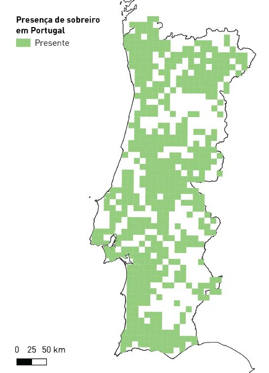 Distribuição do sobreiro em Portugal