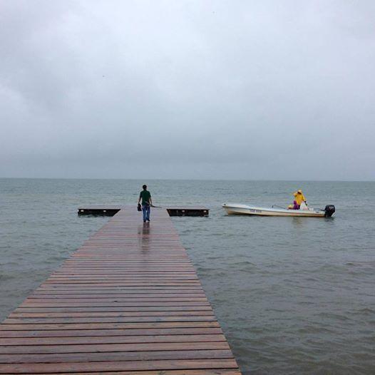 Oscar on the boat dock - Photo Amanda Margraves