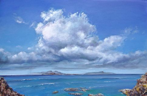 Three of the Small Isles from Ardnamurchan