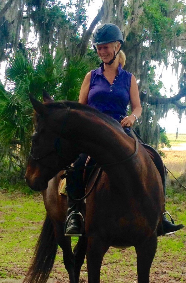 Confidence in horse and rider even with no bit in the horse's mouth