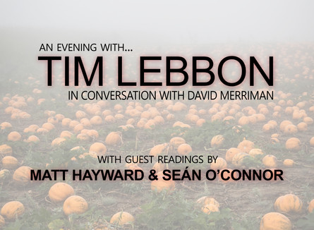 AN EVENING WITH: TIM LEBBON