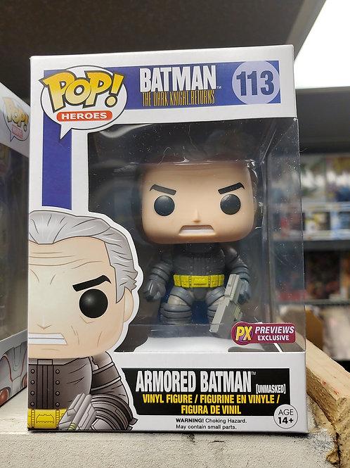 Dark Knight Returns Armored Batman ,unmasked