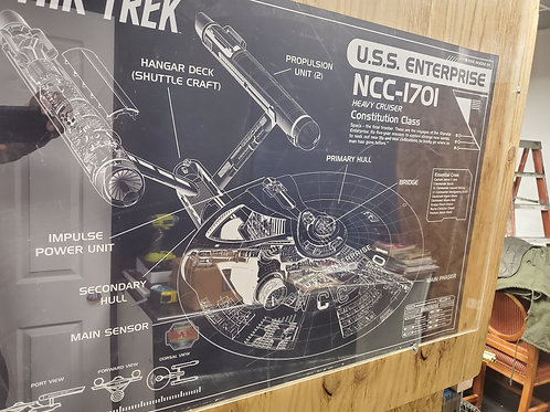 Star Trek USS Enterprise Diagram Poster