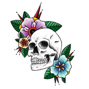 'Skull with Flowers' (2020)