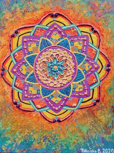 'Textured Mandala' (2020)