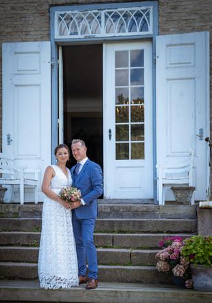 Bryllupsfotografering ved Skjoldnæs holm slot på Midtsjælland