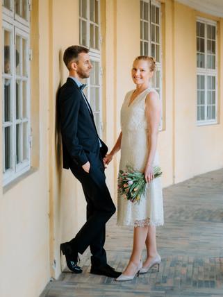 Brudepar ved Frederiksberg slot