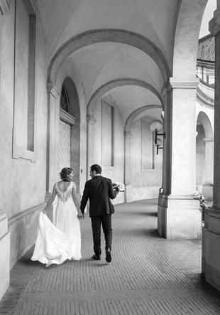 Romantisk bryllupsbillede fra borgerlig vielse i København K