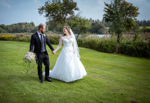 Bryllupsbilleder ved Bastrup sø