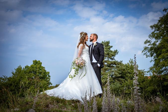 Brudepar i højderne ved Bastrup sø, Nordsjælland