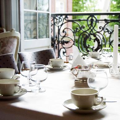 Aftenkaffe inden brudevalsen