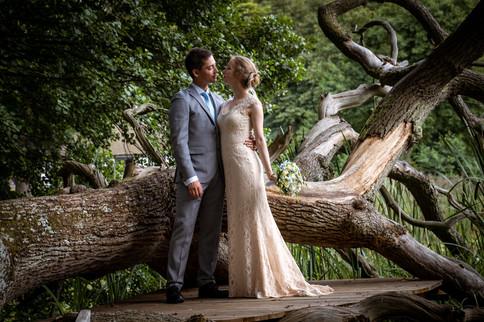 Romantisk bryllupsbillede fra Herthadalen