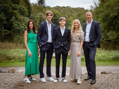 Familiebillede ved konfirmation