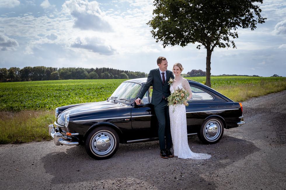 Brudepar nær Gisselfeld og Villa Gallina