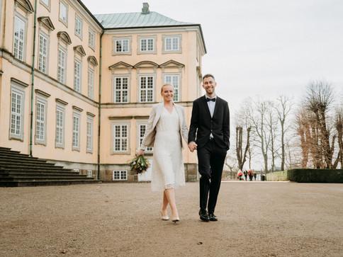 Brud og gom ved frederiksberg slot