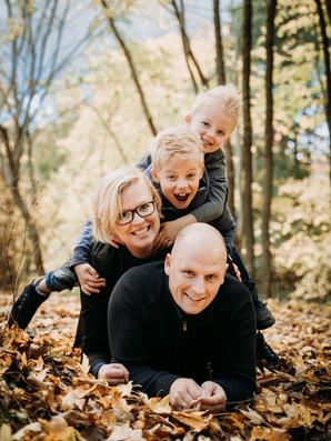 Familiefotografering i skolven