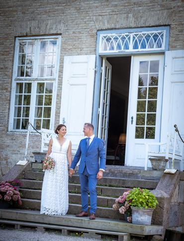 Brudepar ved Skjoldnæsholm på Midtsjælland