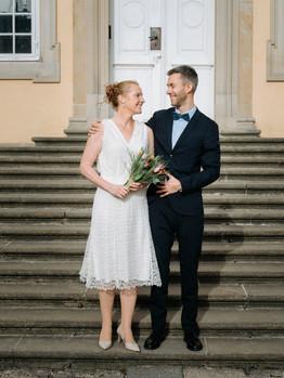 Romantisk bryllupsbillede fra Frederiksberg i København