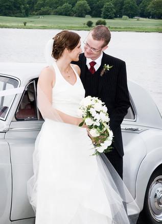 Romantisk bryllupsbillede Roskilde Greve