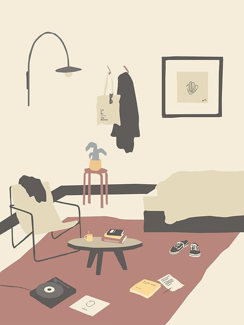 Ilustración #1 La habitación de Julia