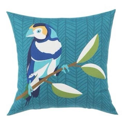 Outdoor Throw Pillow - Finch Teal
