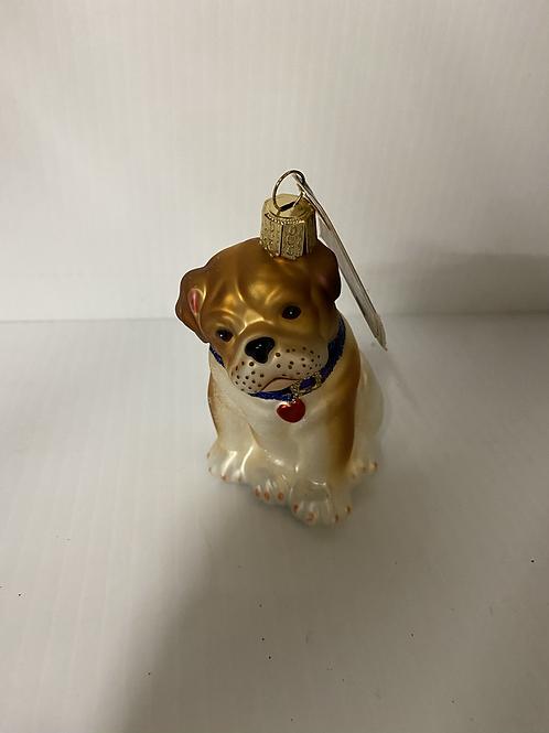 Pup Christmas Bulldog Ornament