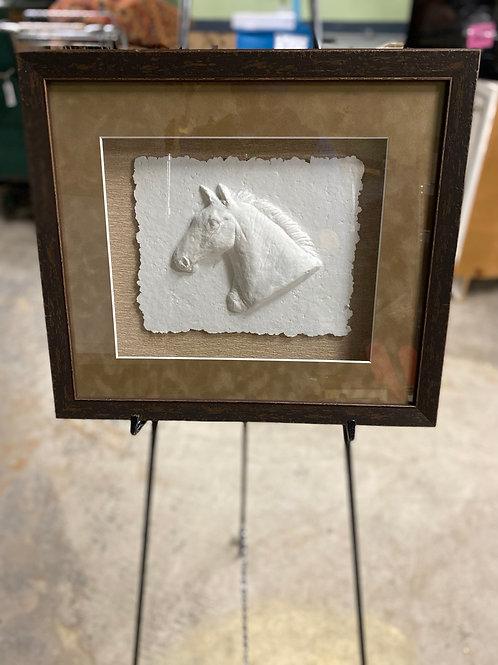 Horse Head Relief Framed Art