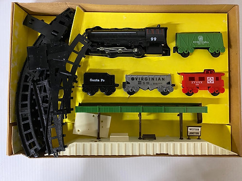 Vintage Battery Operated Dual Control Western Train Set