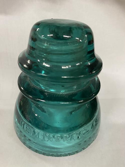 Glass Insulator - Hemingray 42, teal