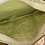 Thumbnail: Canvas Tote Bag with green stripe lining and zipper