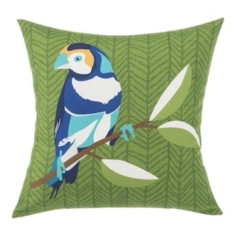 Outdoor Throw Pillow - Finch Green