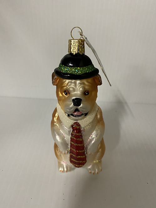 Business Bulldog Ornament