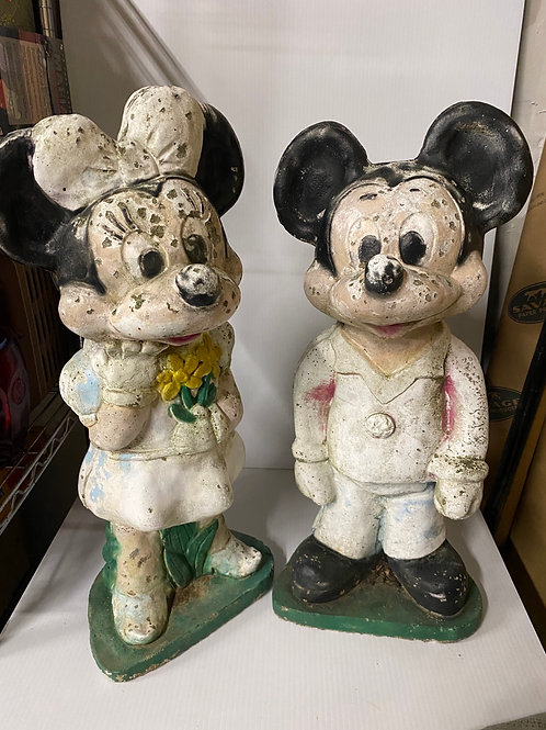Concrete Lawn Art - Mickey & Minnie