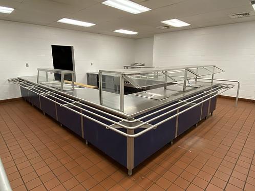 Commercial Kitchen Serving Bar - U-shaped 18'x11'