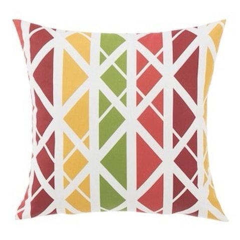 Outdoor Throw Pillow - Levi Lattice Red