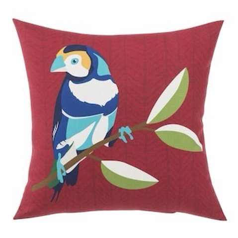 Outdoor Throw Pillow - Finch Red