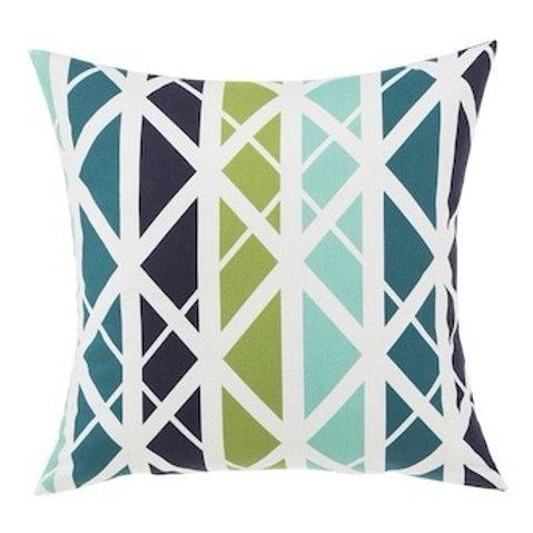 Outdoor Throw Pillow - Levi Lattice Blue