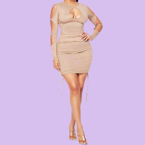 Cover Me Ruched Mini Dress