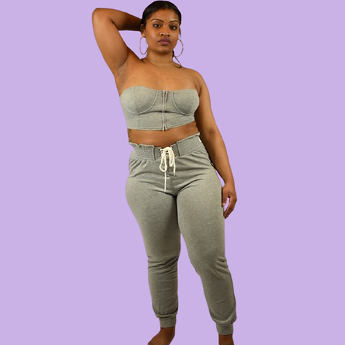 On the Go Two Piece Jogger Set