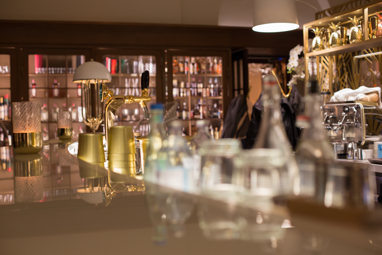 Spirituosen in der Bibliothek