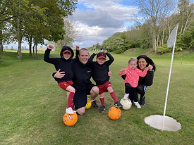 Family Enjoying Foot Golf at Penrith Golf Hub Penrith, lake Distrcit