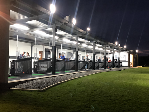 Penrith Golf Hub's Driving Range at Night