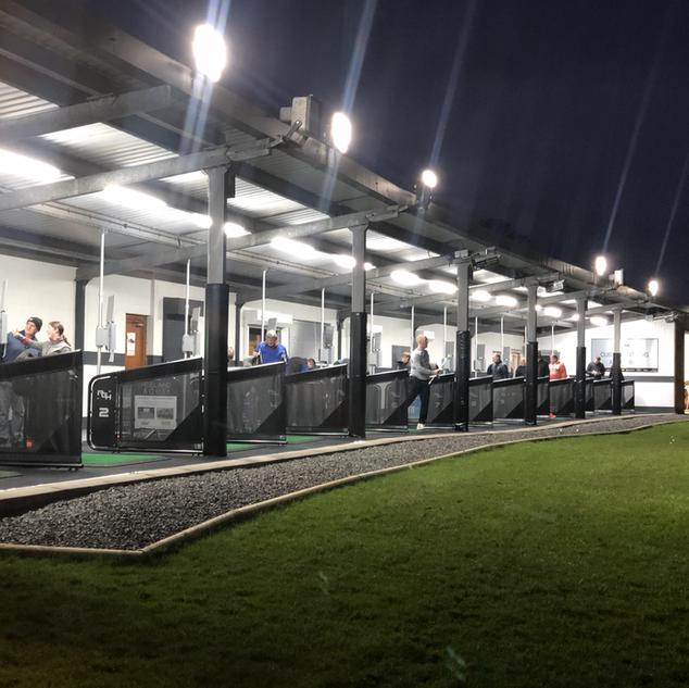 Penrith Golf Hub at night...