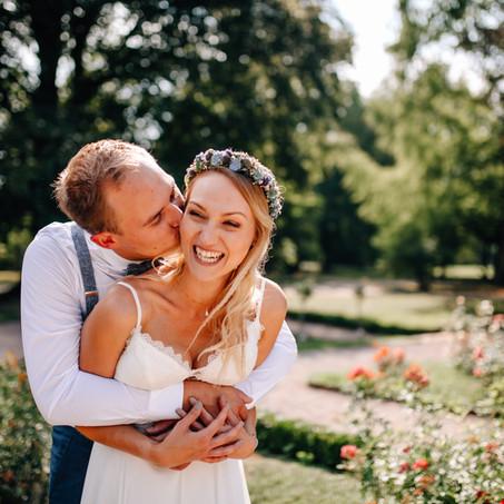 Hochzeit voller Spätsommerromantik in der Orangerie Lahr