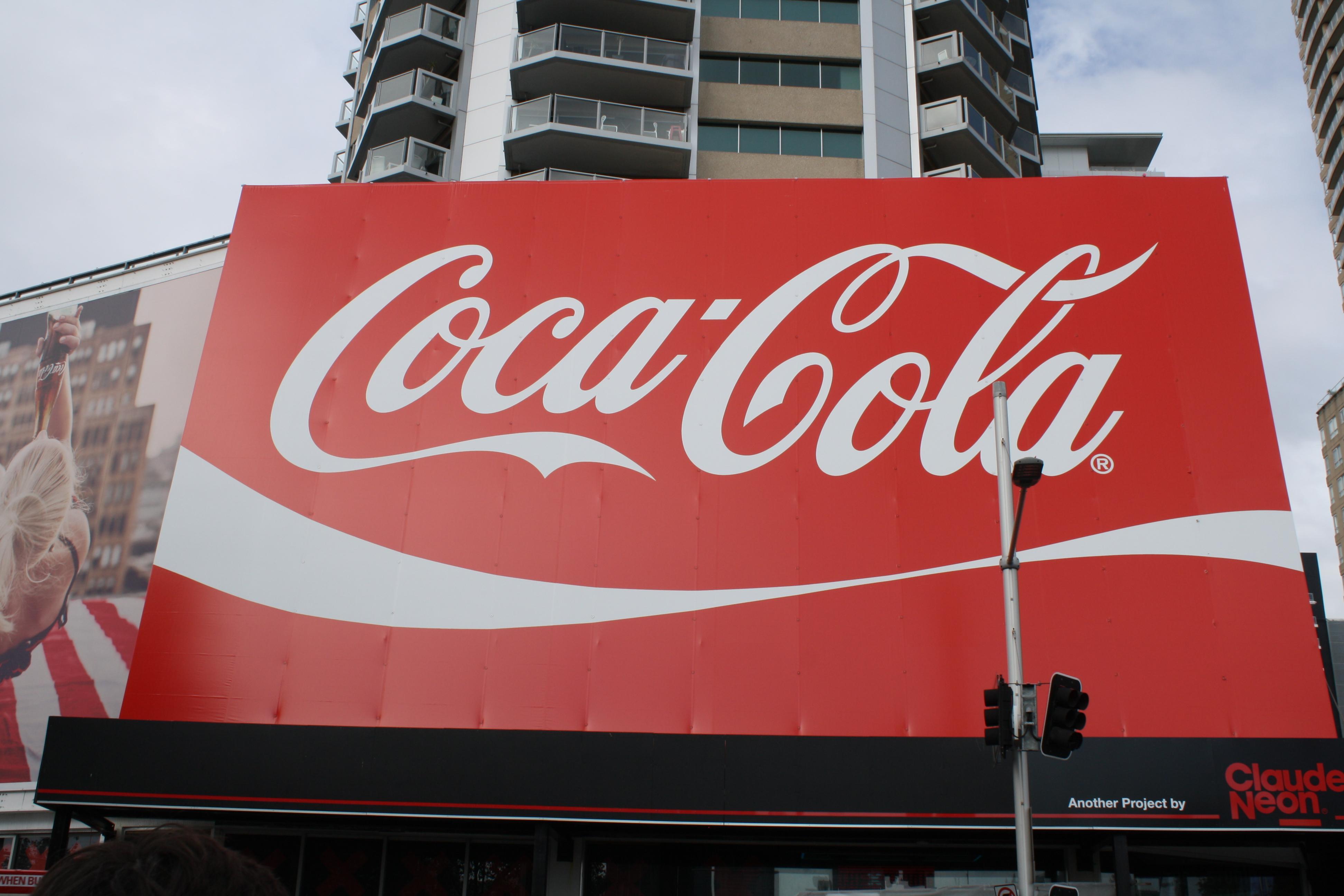 Das größte Coca-Cola Schild der Welt