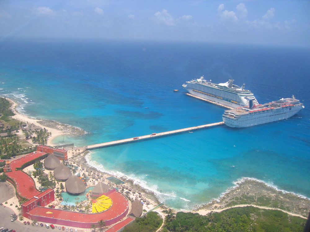 Hafenansicht Costa Maya