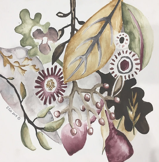 Contemporary Watercolour Compositions with Sarah Cole Saturday 17th July 2021
