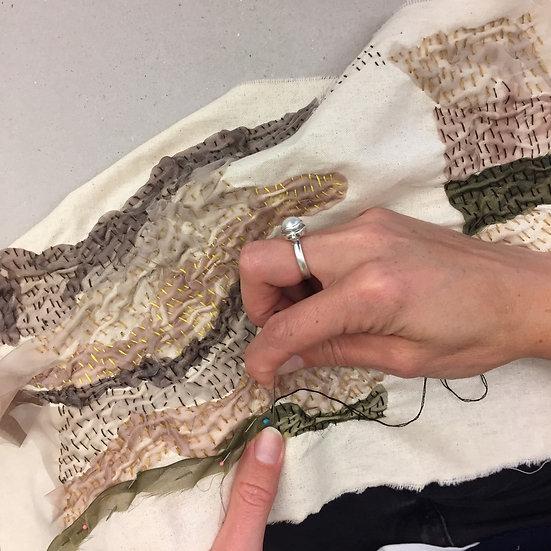 Slow stitching with Michele Elliot