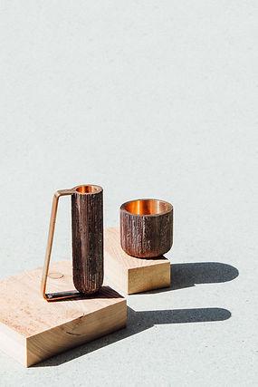 Bronze casted candle holder - Simon Ballen